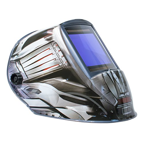 TGR Extra Large View Auto Darkening Welding Helmet - FANG - 4'' W x 3.65'' H View by Tool Guy Republic