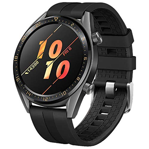 Sunday88 Compatible Huawei Watch GT Band, 22mm Adjustable Classic Silicone Watch Band for Compatible Huawei Watch GT Sport/Ticwatch S2 &Ticwatch E2 Smartwatch (Black, Free Size)