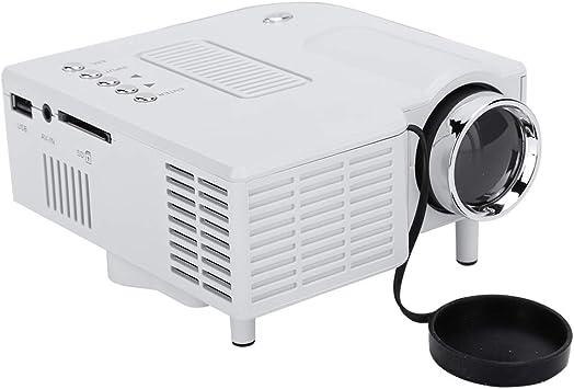 Opinión sobre Tosuny Mini Proyector 1080P, Multimedia Vídeo Proyector LCD, 100,000 Horas Proyector de Cine en casa Compatible con HDMI/VGA/AV/USB/SD(Blanco)