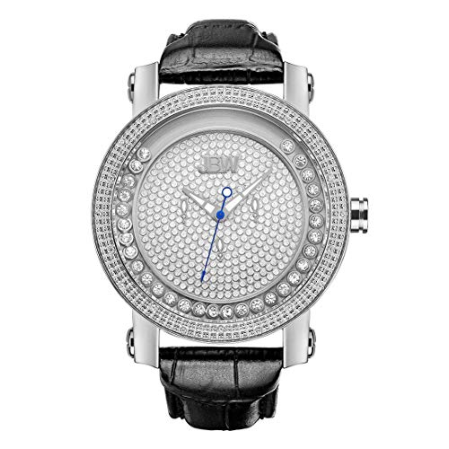 JBW Luxury Men's Hendrix 0.20 Carat Diamond Wrist Watch with Stainless Steel Bracelet ()