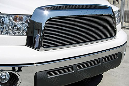 GrillCraft TOY1964-BAC BG Series Polished Aluminum Upper 1pc Billet Grill Grille Insert for Toyota - Tundra Toyota Grille Grillcraft