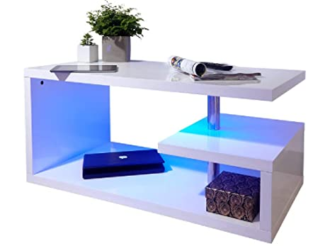 Superb Shoptagr Polar White High Gloss Furniture With Led Lights Bralicious Painted Fabric Chair Ideas Braliciousco
