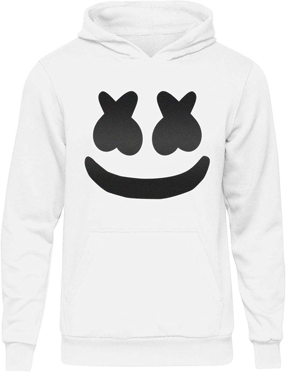 Kids Marshmallow DJ Smiley Face Hoodie Hooded Sweater