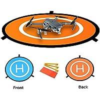 Hensych Mini héliport de Piste Pliable pour DJI Mavic Pro Drone / DJI Spark /DJI Phantom 2/3/4 Inspire - Élargissez diamètre 75cm, 29cm plié diamètre