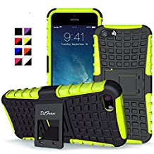 iPhone SE Case , iPhone 5s / 5 Case, DLF Case [ Shockproof ] iPhone5 / iPhone 5s Case Heavy Duty Rugged Dual Layer TPU Textured Non Slip Reinforced Polycarbonate Hybrid Case for iPhone SE /iPhone 5s with Kickstand (Green)