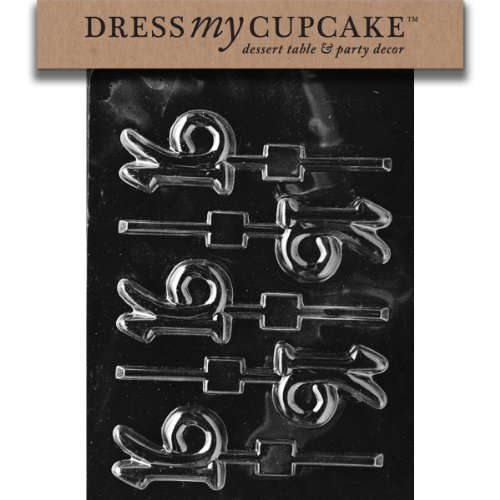 Dress My Cupcake DMCL011SET Chocolate Candy Mold, 16-Lollipop, Set of 6
