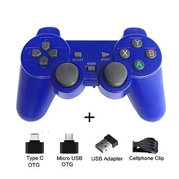 Amazon.es: SMEI Gamepad Inalámbrico para Teléfono Android/Pc / Ps3 / TV Box Joystick 2.4g Joypad Controlador De Juego para Xiaomi Smart Phone Accesorios De Juego Azul con Clip