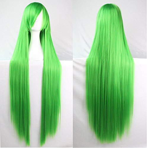Amazon.com : Womens/Ladies 80cm Green Color Long STRAIGHT Cosplay/Costume/Anime/Party/Bangs Full Sexy Wig(80cm, Straight, Green) : Beauty