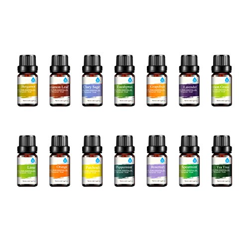 Pursonic 100% Pure Essential Aromatherapy Oils Gift Set-14 Pack – 10ML