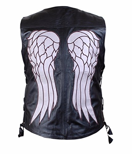 The Sparks Up Inc. 3XL - Black - Faux Leather - Daryl Dixon Vest