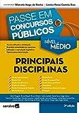 capa de Passe em Concurso Públicos. Principais Disciplinas - Nível Médio