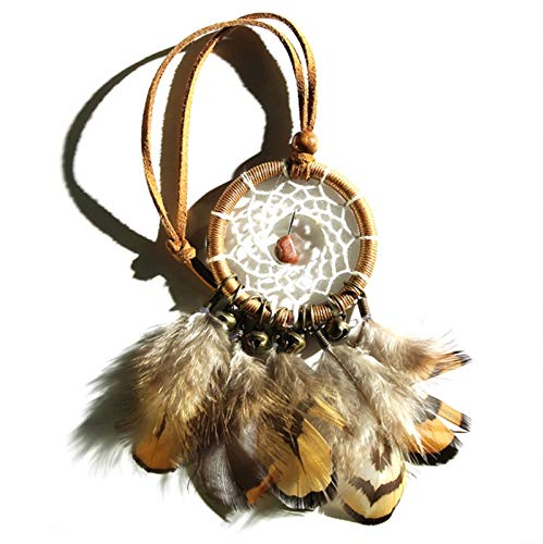 Wind Chimes Small Bronze Bells Car Pendant Home Decor Dream Catcher Wall Hanging,Brown