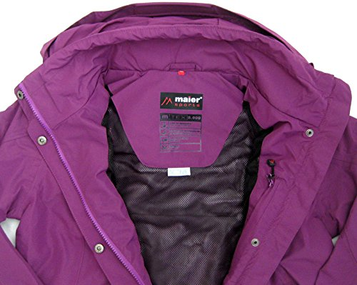 Maier Jacke Damen Purple Wasserdicht Funktionsjacke Sports 44 Windjacke 38-46 Norra