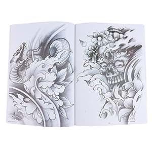 Amazoncom Fenteer Oriental Body Tattoo Flash Dragonphoenixred