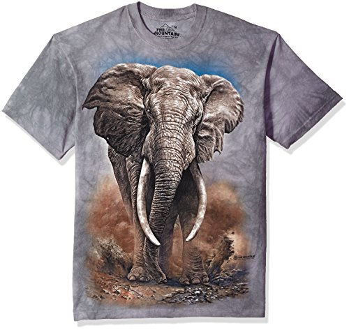 - The Mountain African Elephant Adult T-Shirt, Grey, XL