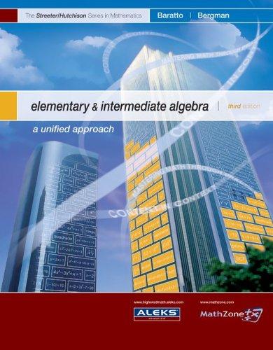 Elementary and Intermediate Algebra--Alternate Hardcover Edition (MP) (The Streeter Series)