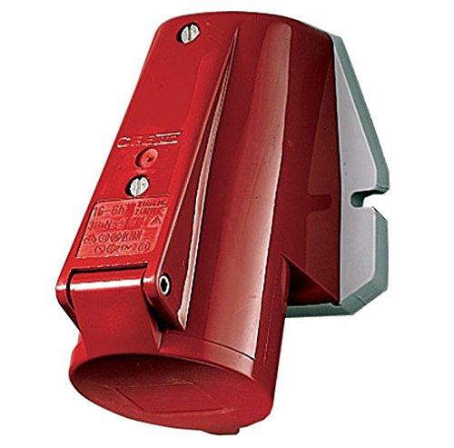 Mennekes 1268 externe de fixation murale Socket, protection IP 44, Top d'entré e de câ ble, 4 Pole, 16 A courant, 400 V, Rouge Top d' entrée de câble 4Pole 16A courant 400V MENNEKES Electric Ltd.
