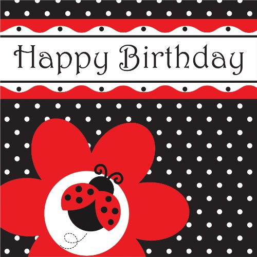 16-Count Paper Lunch Napkins, Ladybug Fancy Happy Birthday for $<!--$0.99-->