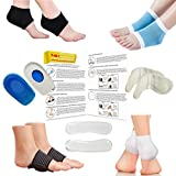 Plantar Fasciitis Foot Sleeve 14 Pieces Kit For Instant Foot Pain Relief – Heel & Arch Support, Compression Socks, Heel Pads, Heel Grips, Heel Cups, Shoe Inserts & Shoe Insoles For Metatarsal Pain