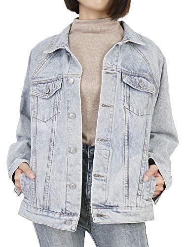 Jacket Donna Oversize Cappotto Di Blu 54 Chiaro Jeans 38 Denim Giacca Dylh 06IdwnxFq6