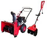DB7659-22'' Two Stage Electric Start Gas Snow Thrower with DB5004 Electric Snow Shovel