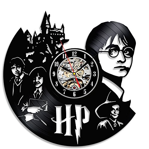 Vinyl Clock Bedroom Wall Décor Gift for Harry Potter Fans
