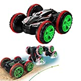 Stunt Car SZJJX 2.4Ghz 4WD RC Car Boat 6CH Remote Control Amphibious Off Road Electric Race Double Sided Car Tank Vehicle 360 Degree Spins and Flips Land & Water