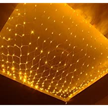 NETLT christmas,fairy series lights,led net light,outdoor/interior decoration, 880light bead-yellow 4m*6m(157x236inch)