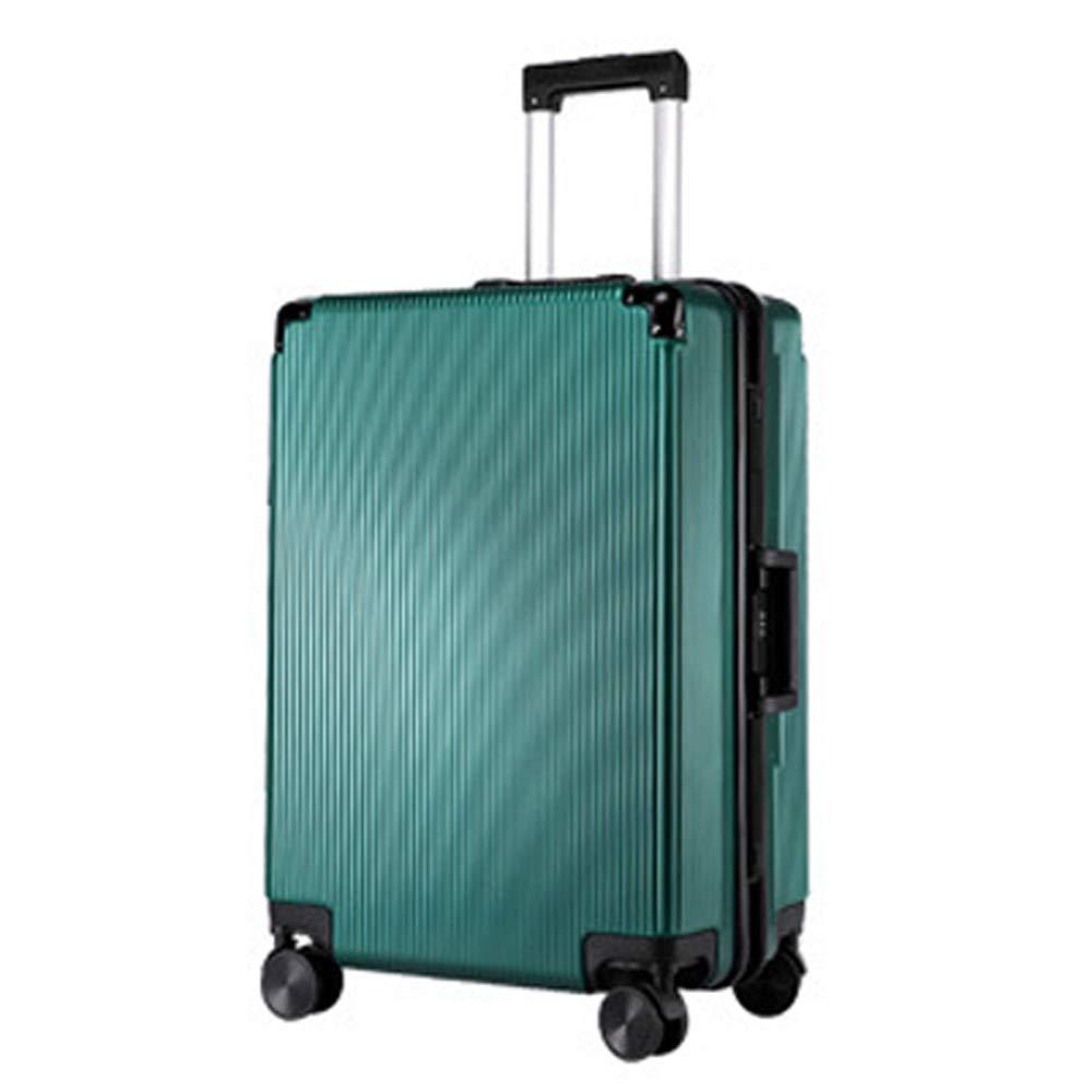 スーツケース拡張可能スーツケース荷物ABS素材4スピナーホイール、ユニバーサルホイール防水、通気性、耐摩耗性、盗難防止、荷箱、搭乗、耐衝撃性 33*23*55cm B07S2JYFJB Green