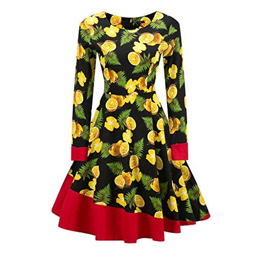 Vintage 1950 vestidos Otoño Vestido de manga larga mujer una línea Patchwork Retro Swing Rockabilly femenino vestido de fiesta vestido vestidos TQ000062