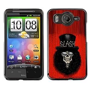 Shell-Star Art & Design plastique dur Coque de protection rigide pour Cas Case pour HTC Desire HD / G10 / inspire 4G( Rock Roll Guitar Star Player Top Hat )