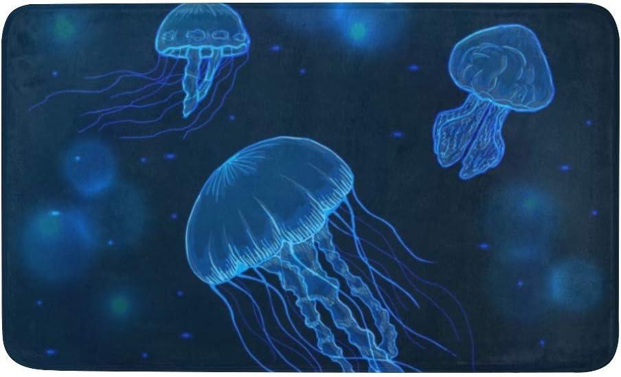 Amazon Com Cuxweot Indoor Outdoor Doormat Non Slip Backing Ultra Absorbent Mud Jellyfish Marine Animals Door Mat Home Office Decorative Entry Rug Garden Kitchen Mats 23 6 X15 7 Inch Garden Outdoor