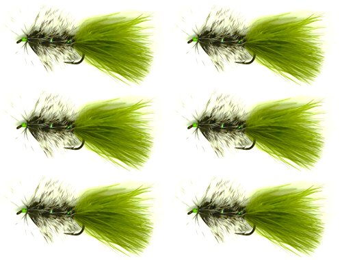 6pcs / Half Dozen Fly Fishing Flies WOOLLY BUGGER OLIVE 6# 8# 10# available NEW (10#)