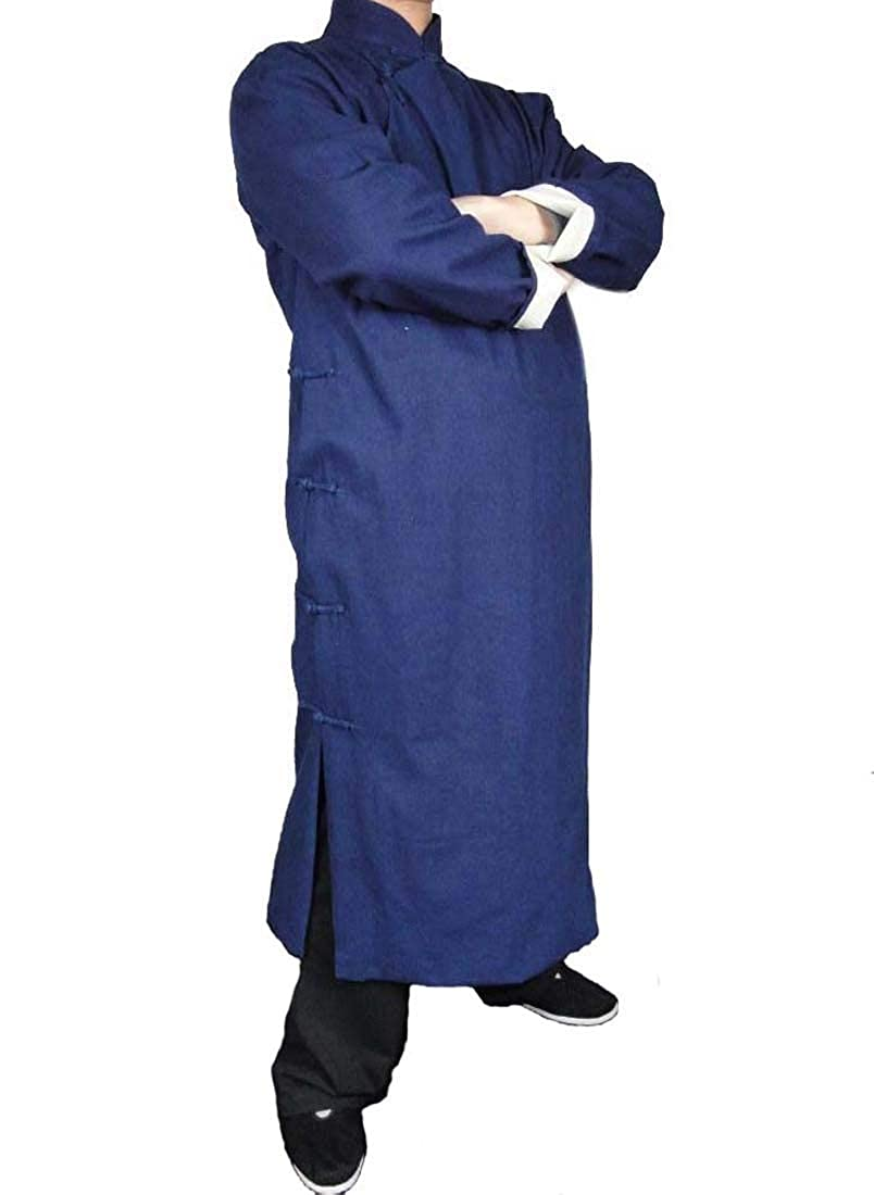 オーダーメード伝統的中国礼服上等リネン生地手作りチャイナカラー付き紺プレミアムコート#103 オーダーメイド オーダーメイド B004W5ISVW, 雑貨マニアmarz:89a7dbe1 --- capela.dominiotemporario.com