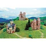 Maquette en carton : Trois châteaux