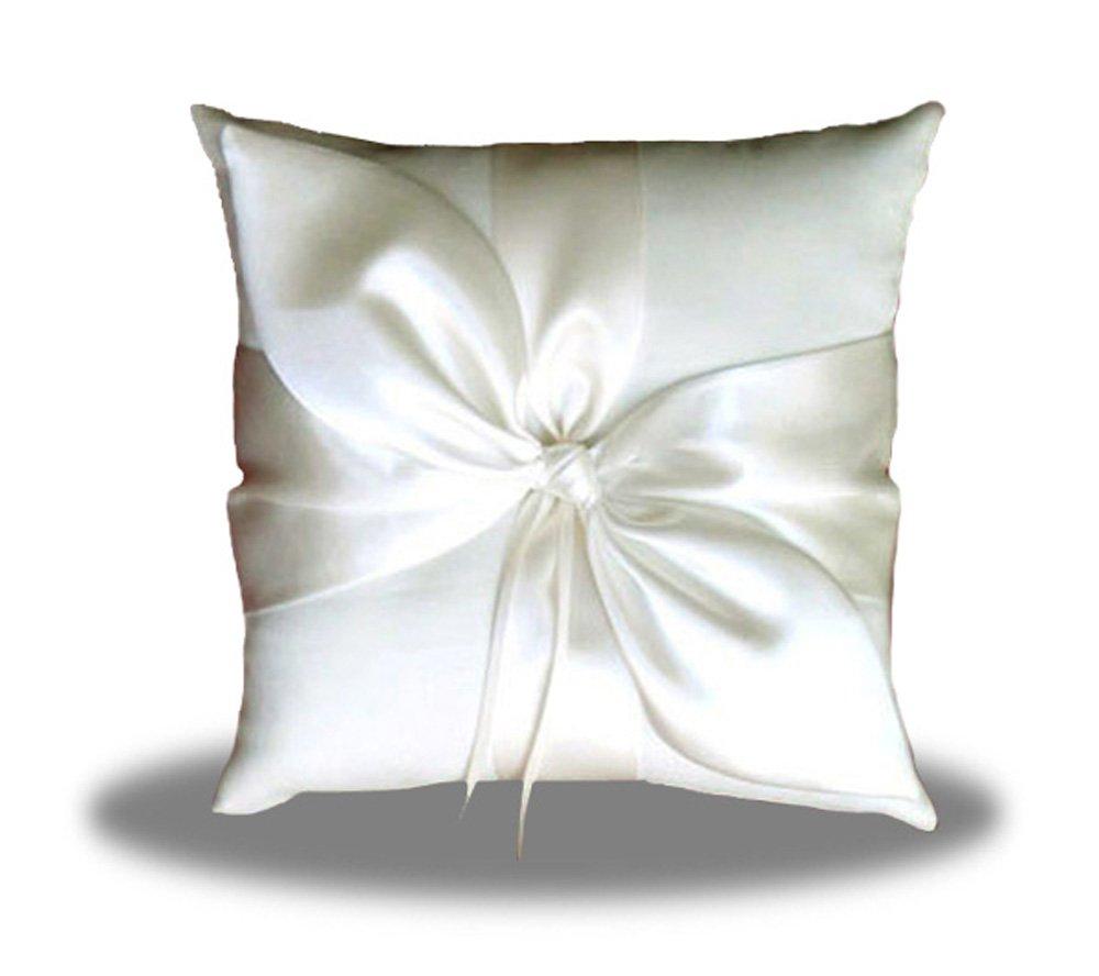 SACASUSA(TM) Ivory Satin Bow Wedding Ring Pillow Bearer by SACASUSA