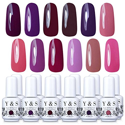 Yaoshun Gel Nail Polish Lacquer UV LED Nail Art Kit of  12pc