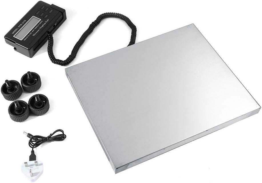 Báscula postal digital, plataforma impermeable de acero inoxidable, plataforma escalera, pesada, báscula postal con duradera, 150 kg/0,05 kg, 300 kg/0,1 kg