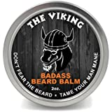 Badass Beard Care Beard Balm For Men - The Viking Scent, 2 oz - All Natural Ingredients, Keeps Beard and Mustache Full, Soft and Healthy, Reduce Itchy and Flaky Skin, Promote Healthy Growth