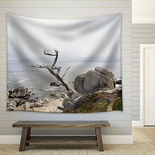 Big Rocks by The Seashore Fabric Wall