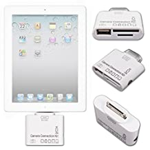 Connection Adaptor Kit for iPad 1st Gen/iPad 2/3rd Gen iOS 9 Only- Adapter Kit Ft 30-Pin Connector, USB 2.0 Port, Dual SD Card Slots - by DURAGADGET