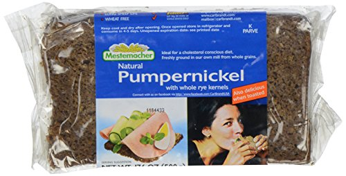 Mestemacher, Pumpernickel with Whole Kernels, 17.6 oz - Whole Rye Bread