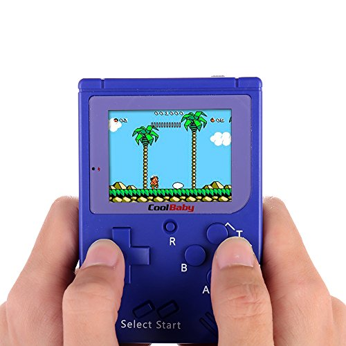 Goolsky Pocket Handheld Video Game Console 2.2in LCD 8 Bit Mini Portable Game Player Built-in 129 Games