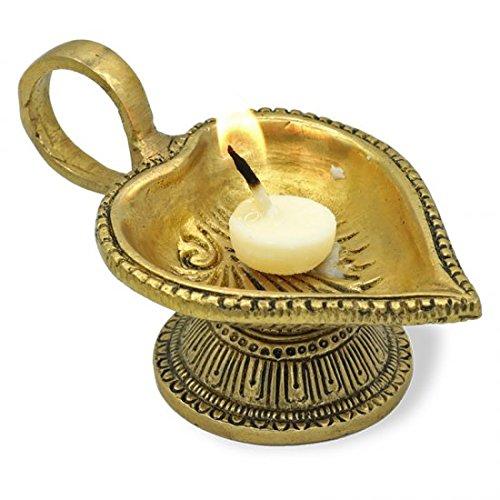 stimmungsvolle crean lámpara de aceite Corazón para ghee velas de latón–Diwali–Festival de luces–Cute Nails