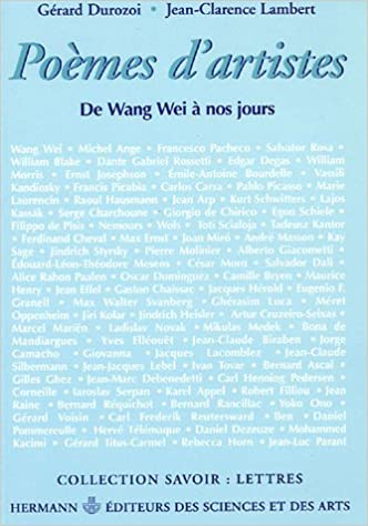 Poemes Dartistes Anthologie De Wang Wei A Nos Jours 1