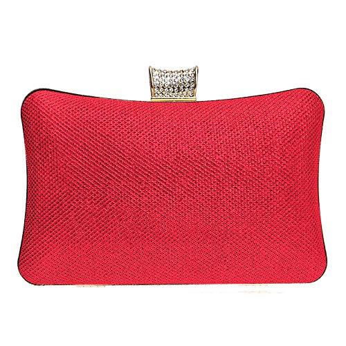 À De Sacs Argent Cristaux Rouge à Fourre De en Tout Sacs main Bleu sac Royal Main Capacité Boutons Cuirette Soirée QZTG Grande Sac rouge Femme 17wpaTxnqf