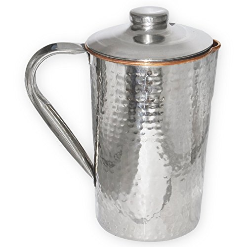 Taluka   5  x 9  inches approx   Copper Stainless Steel Hammer Jug   1700 ml