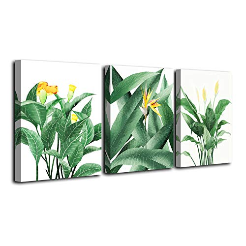 Vivipop Art Canvas Wall Art Green Leaf Flowers Plants Paintings 12