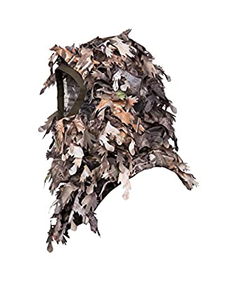 North Mountain Gear Ghillie Camouflage Face Mask - Hunting Accessories - Hunting Hat - Turkey Hunting - Hunting Mask - Camo Face Mask - 3D Leafy Balaclava Airsoft Paintball