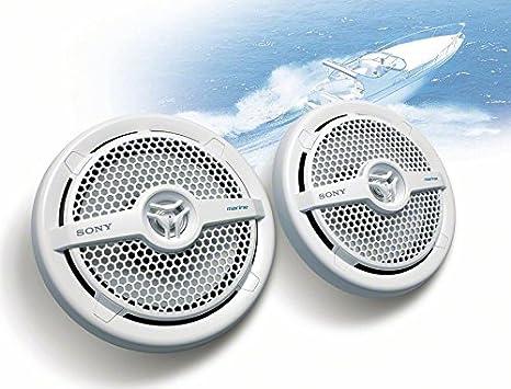 Sony XSMP1611 6.5-Inch Dual Cone Marine Speakers Black